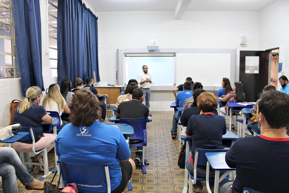 Treinamento da Lousa Digital no São Joaquim